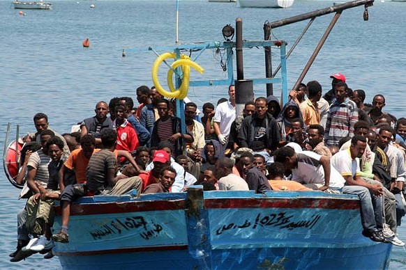 immigrants in Lampedusa